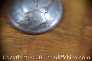 1920 & 1929 90% Silver Mercury Dime Earrings