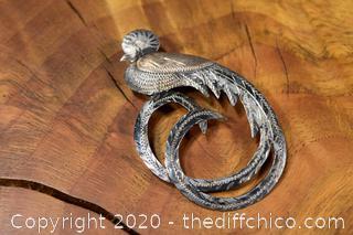 Bird Pin 900 Silver