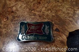 Vintage Miller Beer Belt Buckle