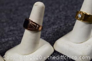 6 Men's Costume Jewelry Rings