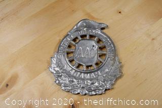 Vintage Car Badge