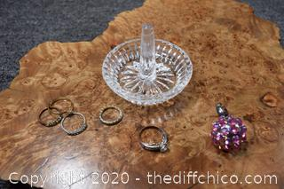 6 Rings plus Ring Holder