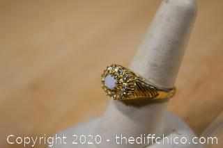 Opal and Gold Plate Ring size 9