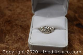Pooh Bear Sterling Silver Ring size 7