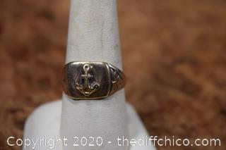 10k Gold Ring size 9 1/2