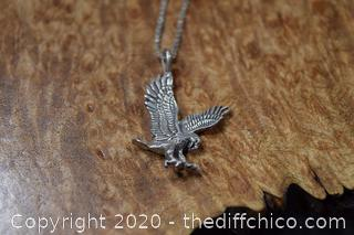 Sterling Silver Eagle and Chain