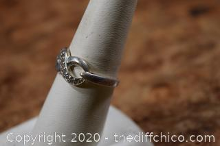 Sterling Silver Ring size 7 3/4