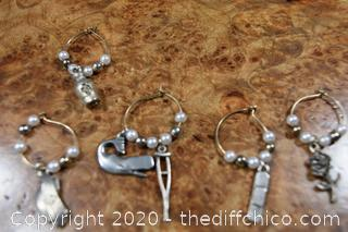 6 Pewter Earrings