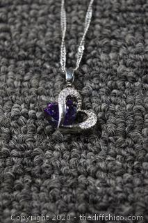 Amethyst Necklace and Chain
