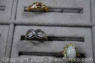 9 Costume Jewelry Rings