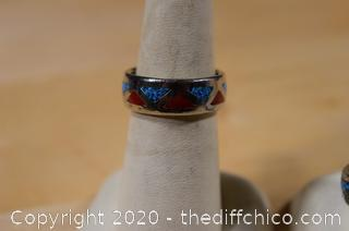 2 Turquoise Rings - size 7 and 11 1/4