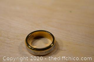 18k Gold Plate Forever Love Ring - size 7