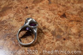 Sterling Silver Amethyst Ring size 6