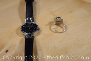Sterling Silver Ring size 5 plus Watch