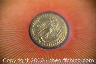 4 - 24Gold Plated Miniature 20 Dollar 1908 St. Gaudens Gold Coin