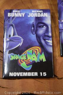 Two Space Jam Pin in Mint Condition