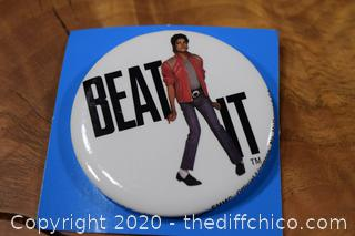 Beat It M..J. Pin in Mint Condition