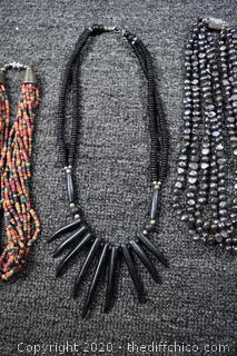 4 Tribal Necklaces