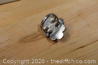 Sterling Silver Ring w/Ivory Stone size 6 1/2