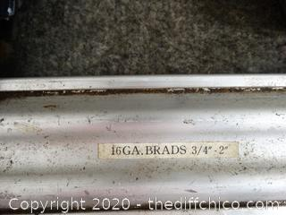 Untested Pneumatic 16ga Brads - 3/4in to 2in Nail Gun