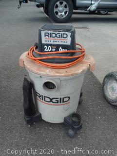 Ridgid 2HP Shop Vac with Hose