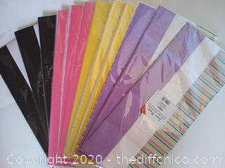 IG Design Tissue Paper, 12 Packs! w/40 Sheets per Pack,  Multi Color/Designs NEW
