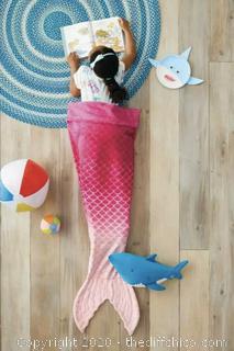 NEW Pillowfort Baby Shark Tail Blanket in NAVY Tail Or Pink Mermaid Sleep Bag