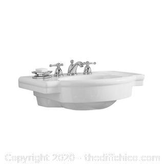 "NEW American Standard 0282.008 Retrospect 27"" Fireclay Pedestal Sink - White"
