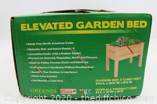 NEW Original Cedar Elevated Garden Bed 32 in x 16 in x 31 in