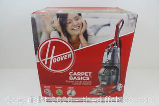 Hoover Carpet Cleaner Power Scrub Deluxe Machine Scrubber Cleaning Washer