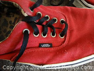 Red Vans Shoes Mens 10.5