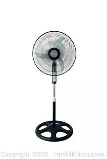 "18"" Oscillating Stand Fan with Remote Control Black - Holmes"