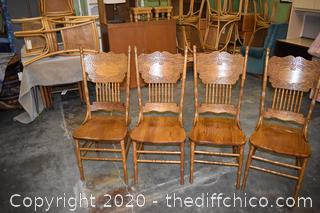 4 Pressback Chairs