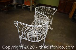 Wrought Iron Love Seat