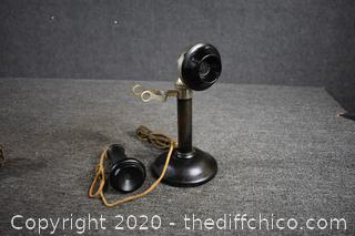 Vintage Candle Stick Telephone