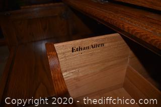 3 Piece Ethan Allen Oak Bookcase/Entertainment Center