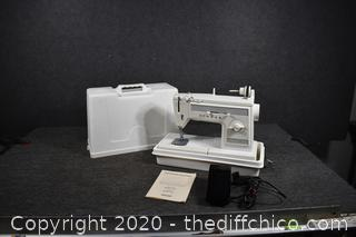 Portable Singer Sewing Machine Model 1022