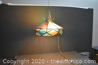 Working Hanging Stain Glass Light