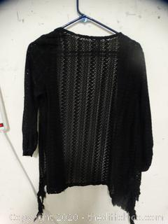Womens Black Cover Up size xl