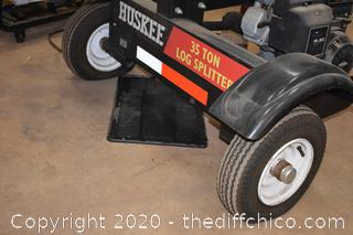Huskee 35 ton Log Splitter with 15.5 Briggs Stratton Motor