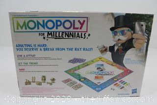 NEW SEALED Monopoly for Millennials Millenium Edtion Board Game