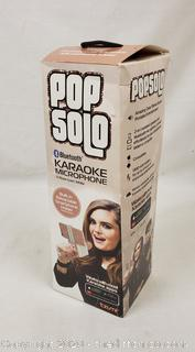 *NEW* Tzumi PopSolo Wireless Bluetooth Karaoke Microphone (Rose Gold)