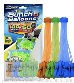 NEW Zuru Bunch O Balloons 100 Self Sealing Water Instant Party Game