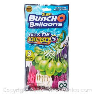 NEW Bunch O Balloons 100 Rapid-Filling Self-Sealing Water Balloons