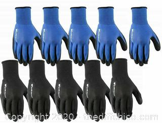 Wells Lamont Men's Work Gloves Foam Latex Coating Knit Liner, Large, 10 Pairs