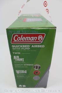 BRAND NEW Coleman QuickBed Single High Air Mattress with Pump - Gray