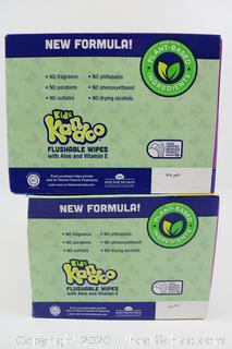 LOT OF 2 (400CT BOXES) Kandoo Flushable Wipes