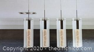 *NEW* Ampere Champagne Glow Indoor Pendant Light Fixture