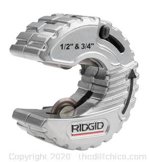Ridgid 1/2 in. - 3/4 in. C-Style Adjustable Copper Tubing Cutter (J6)