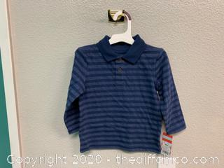 Boys' Long Sleeve Striped Jersey Polo T-Shirt - 2T (J24)